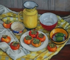 yellow-still-life-with-persimmons